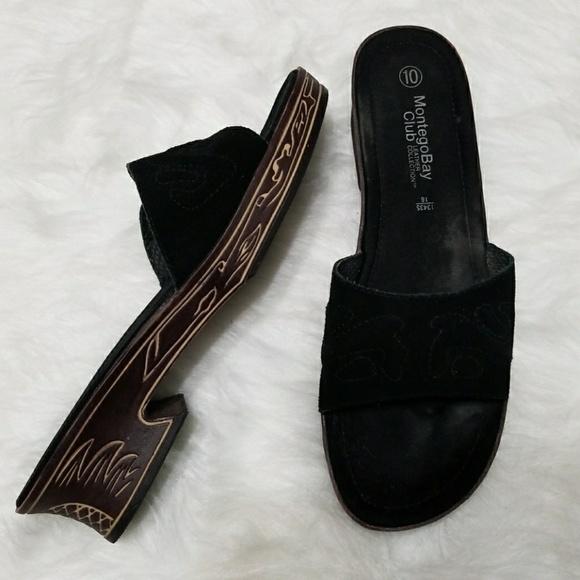 1502cef84 Montego Bay Club Leather sandals. M 5a4465aafcdc31bc800b9371